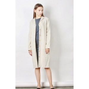 NWT • LINEN Trench Coat • large pockets• lined•